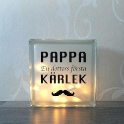 Glasblock Pappa kärlek