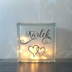 Glasblock Kärlek