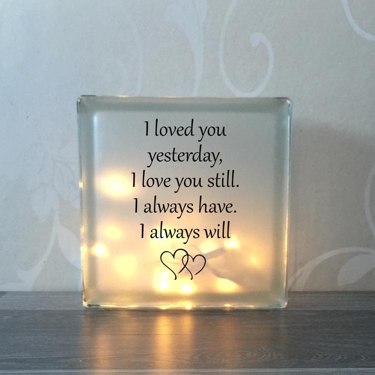 Glasblock I loved you