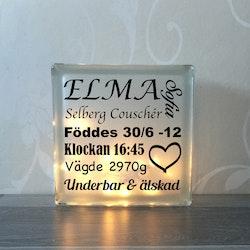 Text till glasblockslampa Nr4