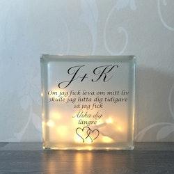 Text till glasblockslampa Nr10