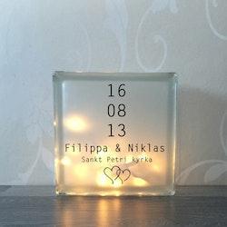 Text till glasblockslampa Nr14