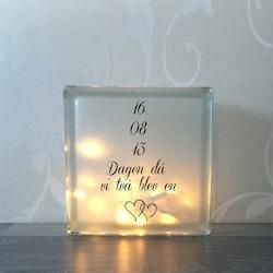 Text till glasblockslampa Nr15