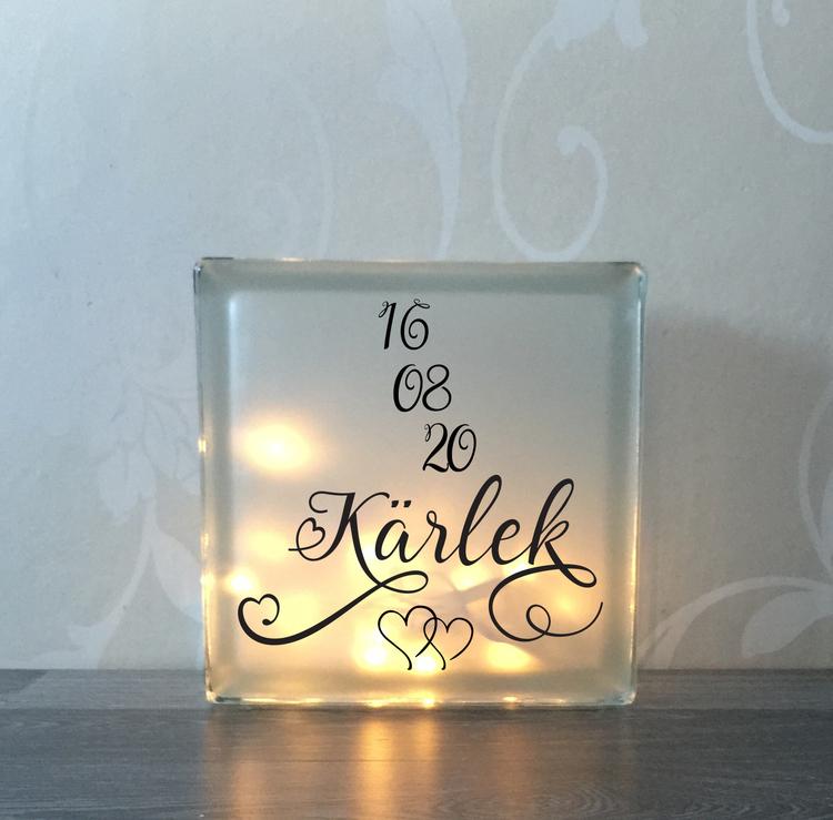 Text till glasblockslampa Nr17