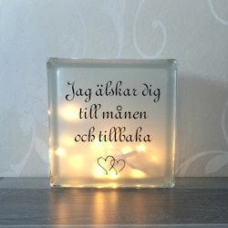 Text till glasblockslampa Nr18