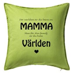 Kuddfodral Mamma/världen