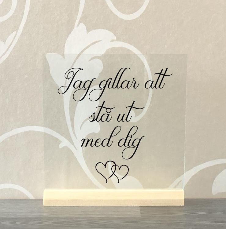 Glasplatta Kärlek alt 2