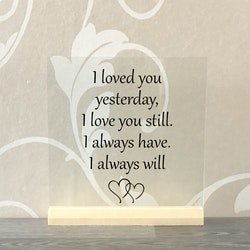 Glasplatta Kärlek alt 6