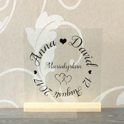 Glasplatta Kärlek alt 20