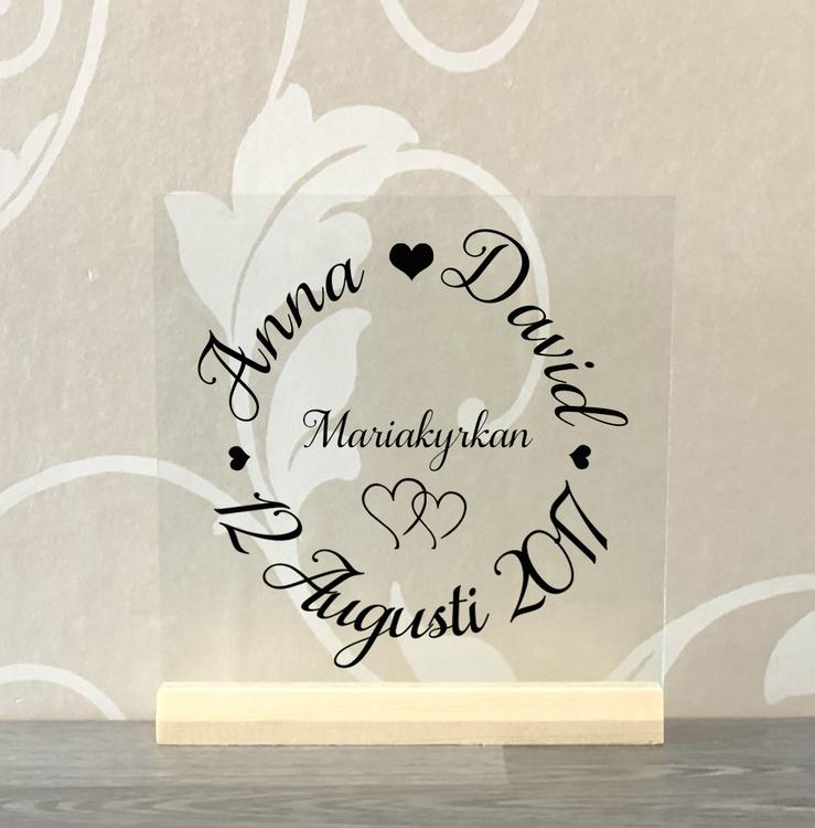 Glasplatta Kärlek alt 21