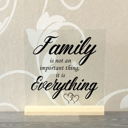 Glasplatta Familj alt 1