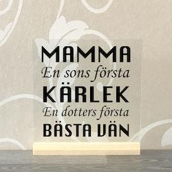 Glasplatta Mamma/pappa alt 2