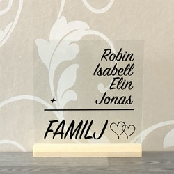 Glasplatta Familj alt 6