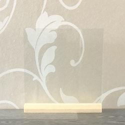 Glasplatta Egen design