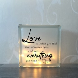 Glasblock Love is everything