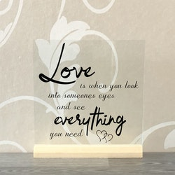 Glasplatta Kärlek alt 30