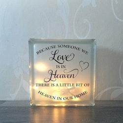 Glasblock Someone we love