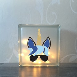 Glasblock Unicorn 2