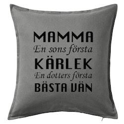 Kuddfodral Mamma Kärlek & Bästa vän