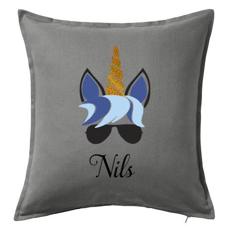 Kuddfodral Unicorn blå