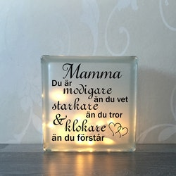 Glasblock Mamma
