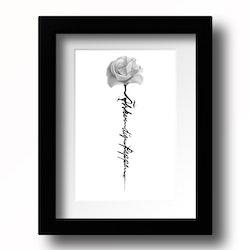 Svart vit ros Älskar dig...