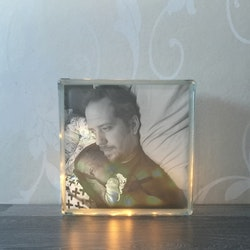 Glasblock eget foto och egen design