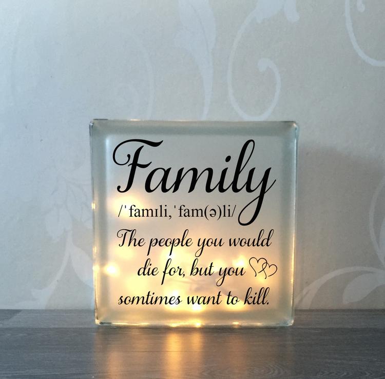 Glasblock Familj 2