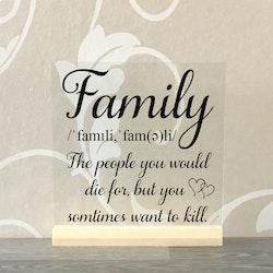Glasplatta Familj alt 8