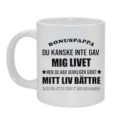 Bonuspappa/mamma Bild & text