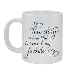 Love story Bild & text