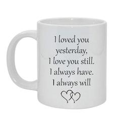 I loved you Bild & text