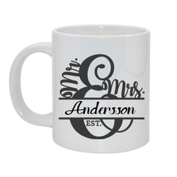 Mr & Mrs Bild och text