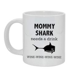 Mommy shark Bild & text