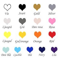 Glashjärta Namn med hjärtan & datum