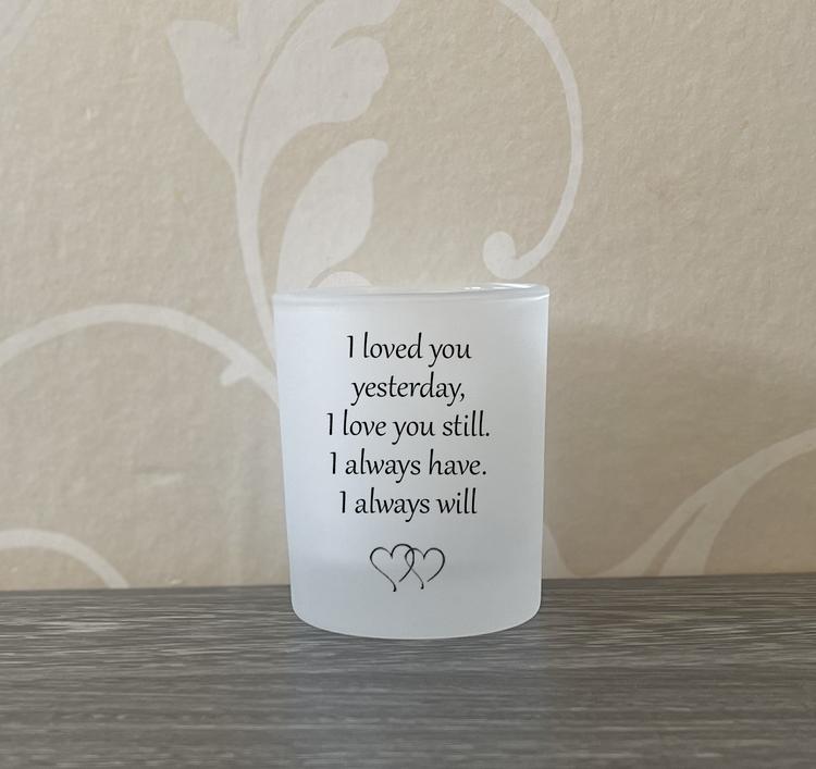 Ljushållare I loved you...