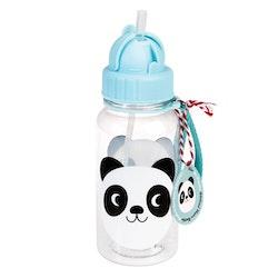 Sugrörsflaska - Panda
