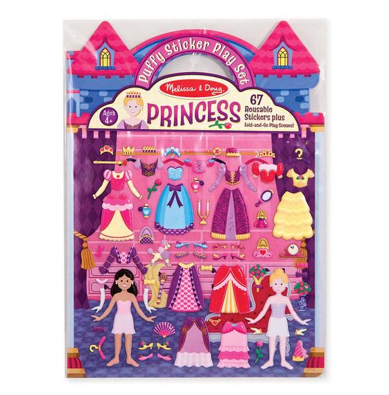 Puffiga Klistermärken - Prinsessa