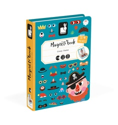 Magnetbok - Tokiga ansikten
