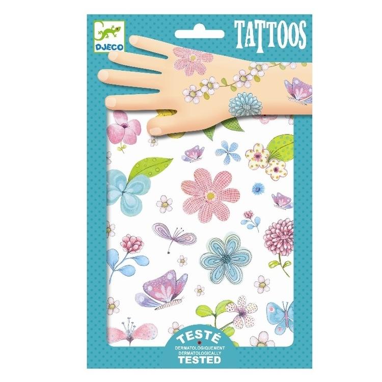 Tatueringar - Fjärillar och blommor
