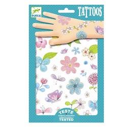 Tatueringar - Fjärilar och blommor