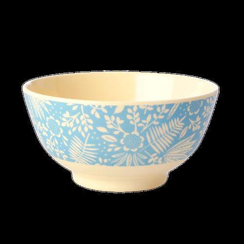 RICE - Skål blå blommor medium