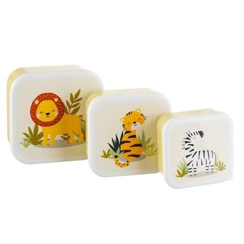 Matlådor -  Safari 3-pack