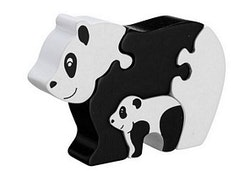 Pussel - Panda med unge