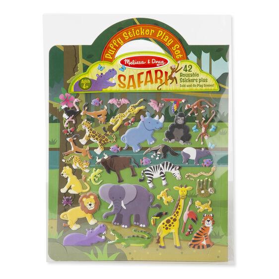 Puffiga Klistermärken - Safari