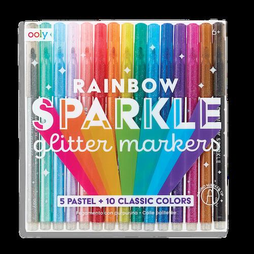 Rainbow glitterpennor