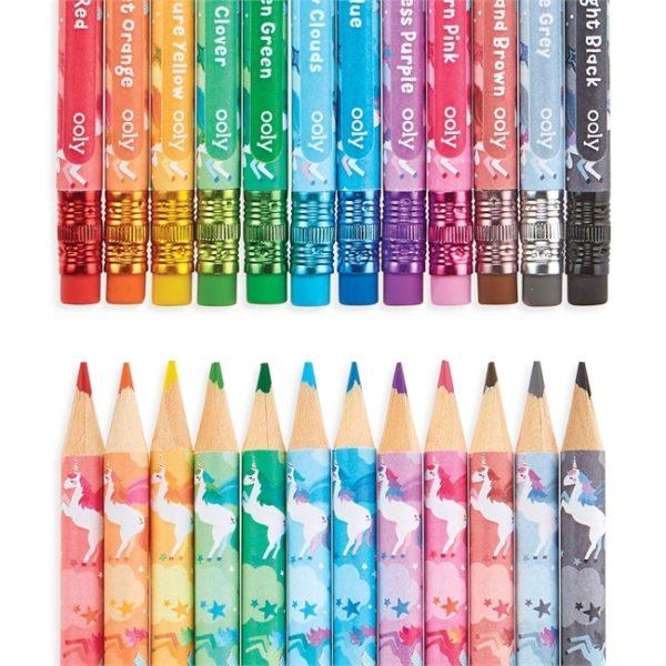 Raderbara färgpennor - Enhörning