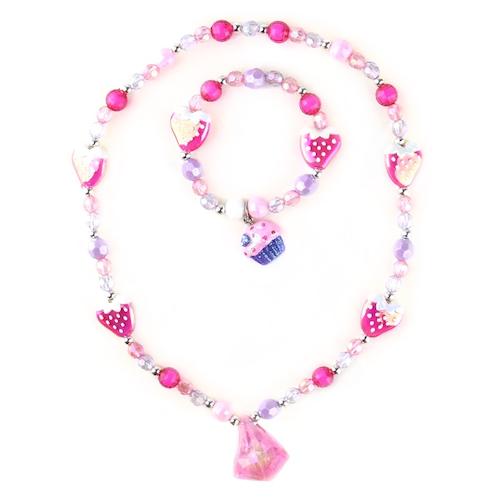 Halsband och armbandsset - Diamant