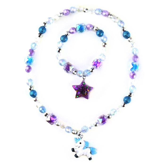 Halsband och armbandsset - Enhörning och stjärna