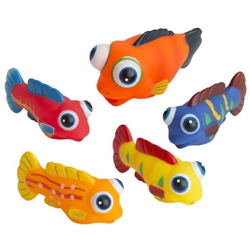 Badleksaker Fiskstim 5-pack